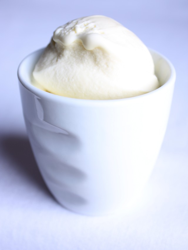 Meyer Lemon-Olive Oil Ice Cream