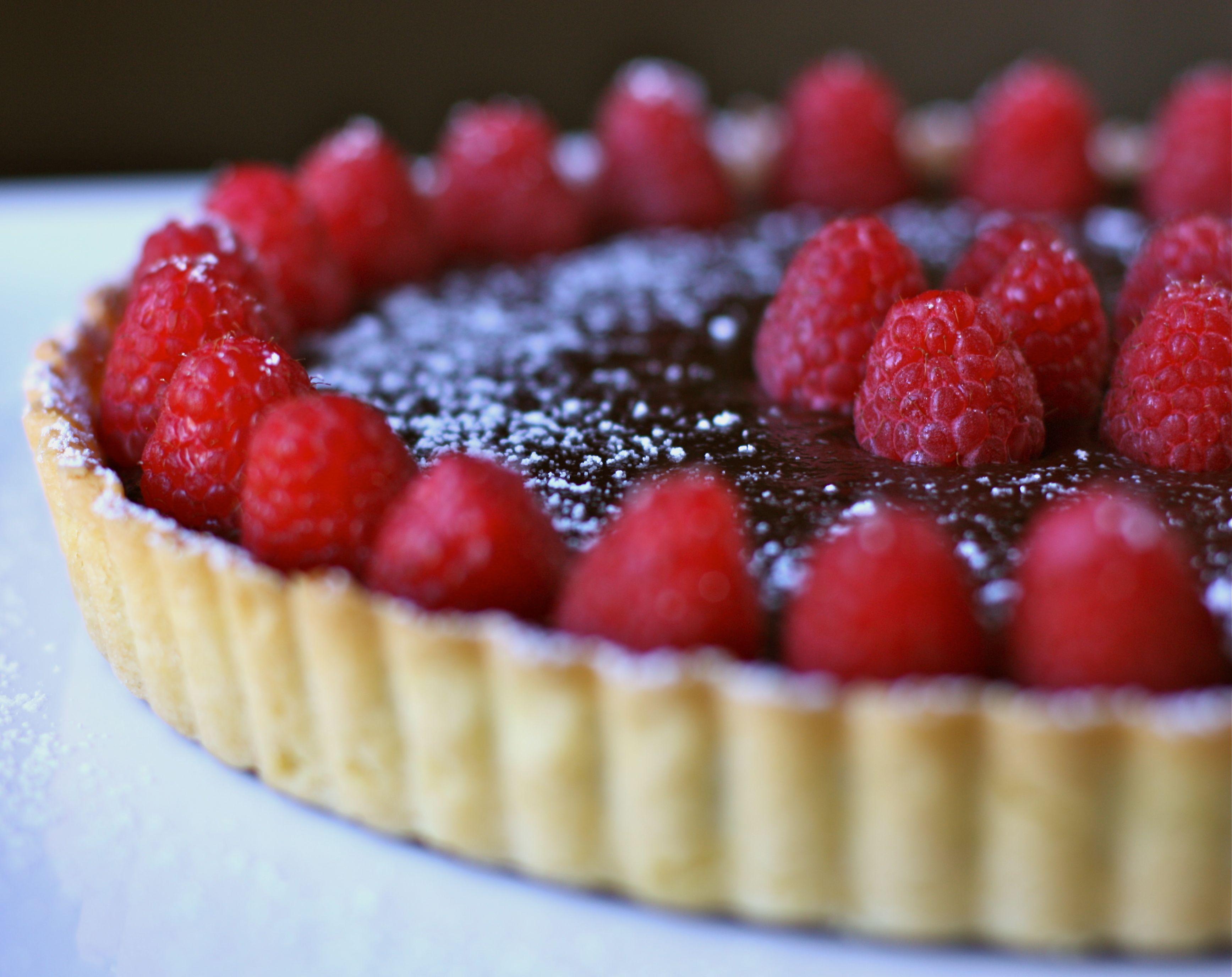 Chocolate Raspberry Ganache Bundt Cake