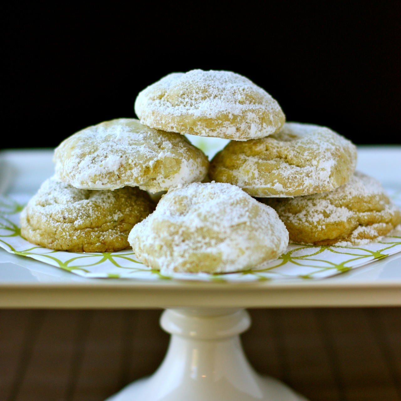 pistachio-lemon crinkle cookies | daisy's world