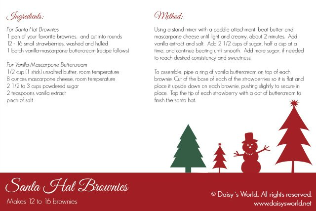 acdcb6a17c98a Santa Hat Brownies recipe card