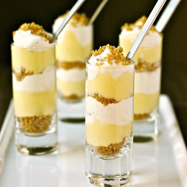 Mini Meyer Lemon and Vanilla Cream Parfaits
