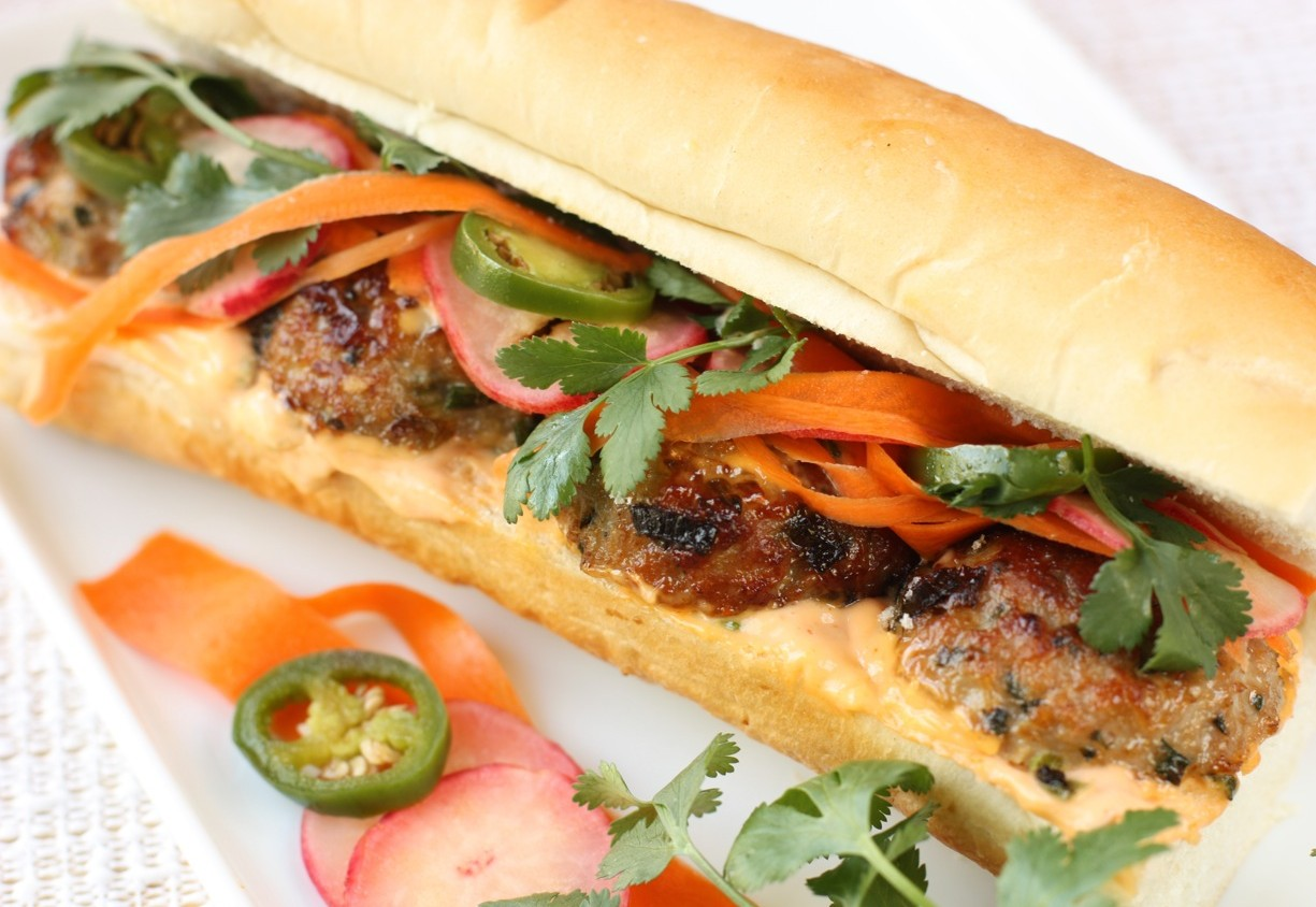 pork meatball bánh mì sandwich | daisy's world