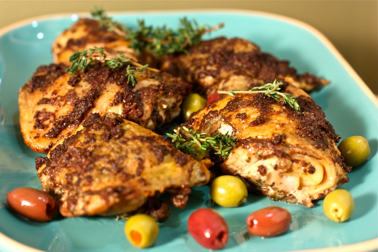 Chicken thigh with olives recipes