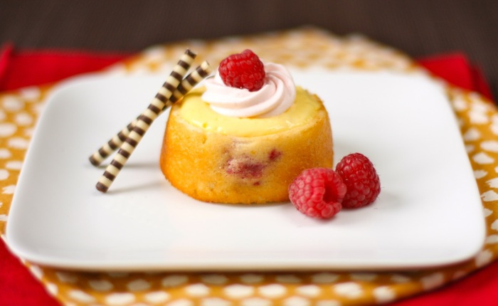 meyer lemon-raspberry mini cakes