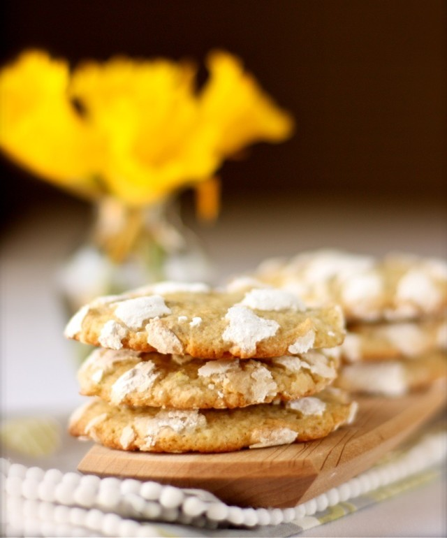 Lemon Crinkle Cookies Without Cake Mix