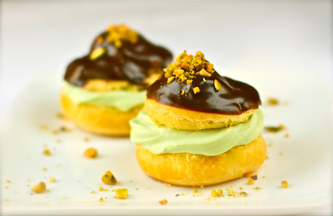 p 226 te 224 choux 233 clairs and puffs filled with pistachio s world