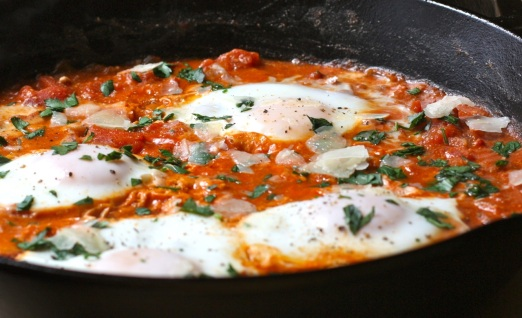 Eggs in Chunky Tomato Sauce