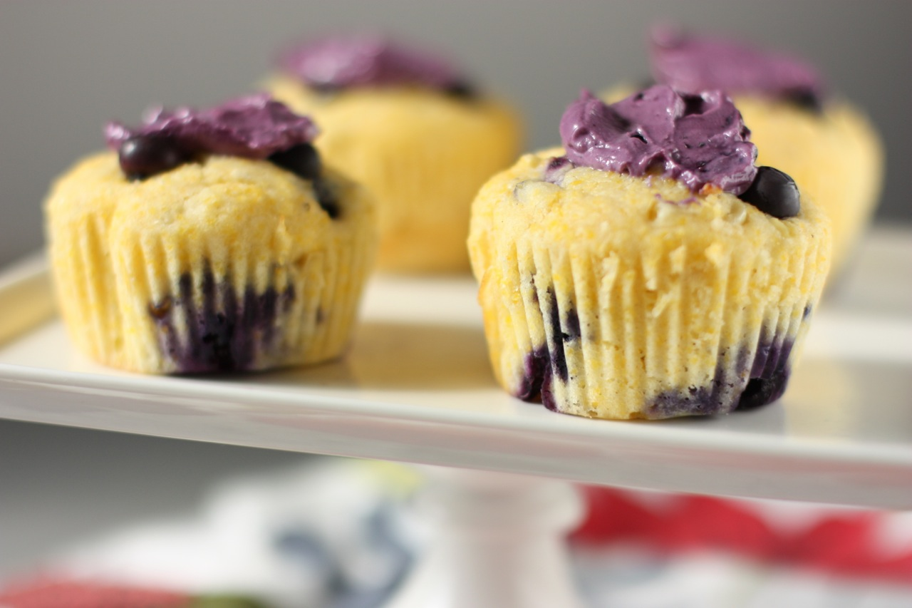 blueberry corn muffins with blueberry-flavored mascarpone and my first ...