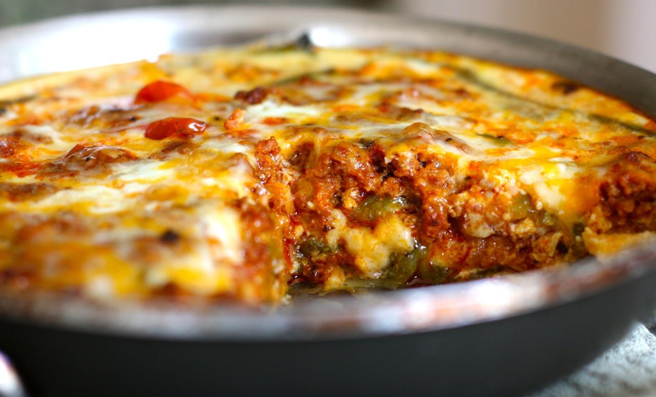 hatch chiles and chorizo bake | daisy's world