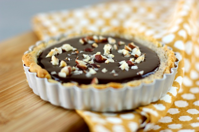 Hazelnut Frangipane and Nutella Chocolate Ganache Tart