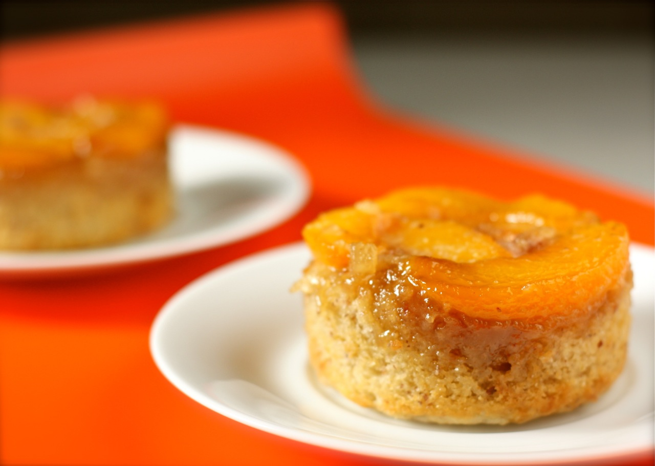 Peach Upside Down Cake Using Cake Mix