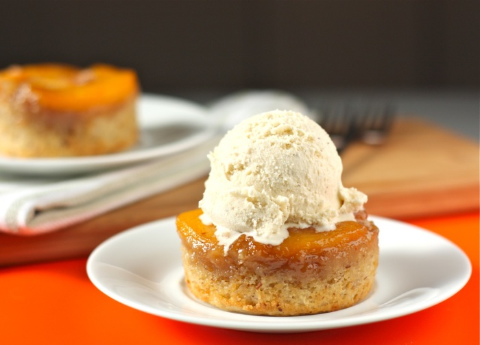 Individual Peach Upside Down Cakes