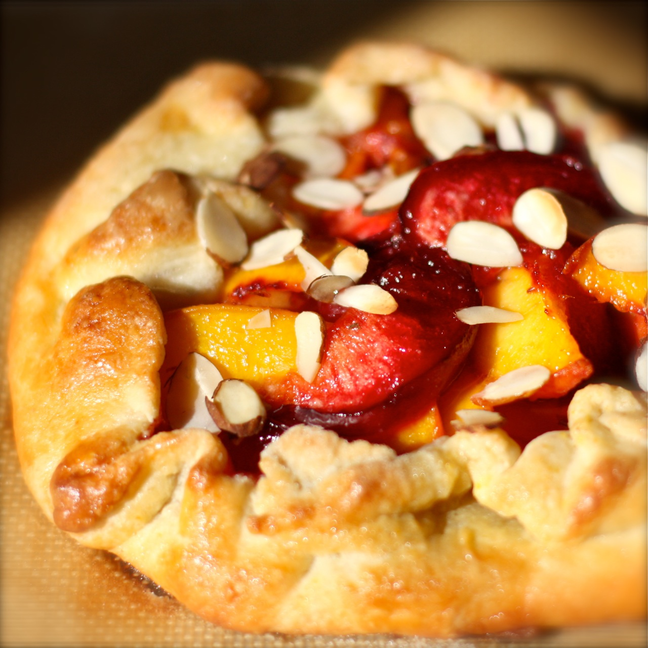 plum and peach galette | daisy's world