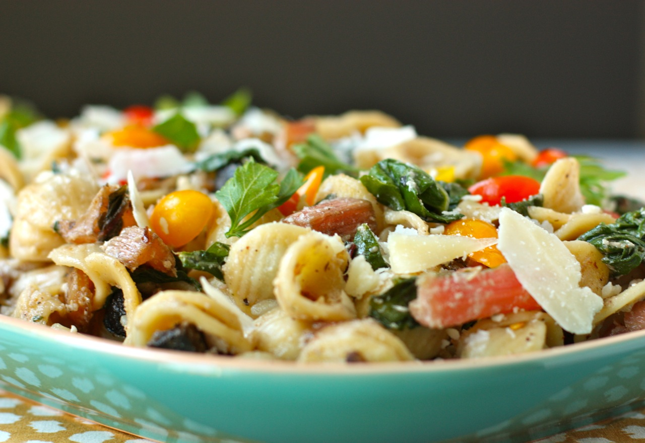 orecchiette with mushrooms, chard, and ricotta pan sauce | daisy's ...