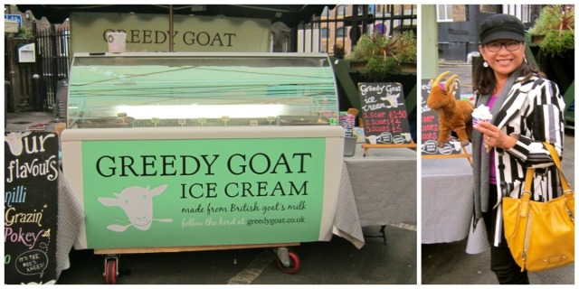 Greedy Goat Ice Cream at Borough Market in London