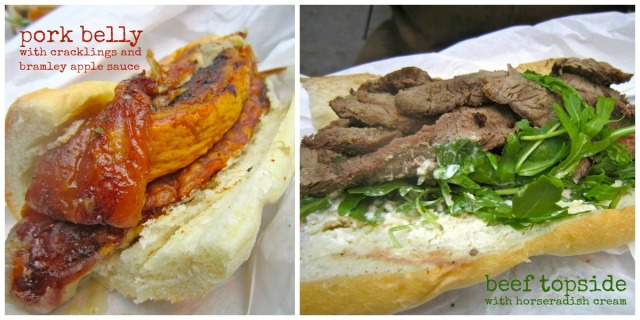 Roast To-Go Sandwiches - pork belly sandwich and beef topside