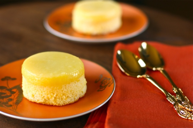 meyer lemon pudding cakes yields 8 individual cakes