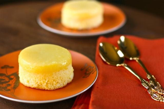 meyer lemon pudding cakes yields 8 individual cakes