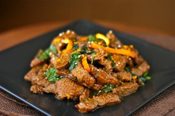 spicy clementine beef stir-fry