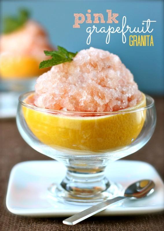 Pink Grapefruit Granita