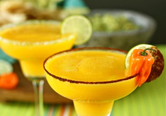 Blended Mango Margaritas