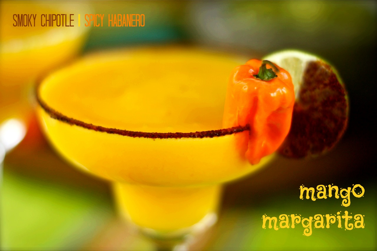 Smoky & Spicy Mango Margarita | daisysworld.net