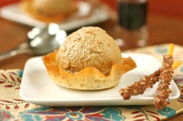 Vietnamese Coffee Ice Cream in a Cardamom, Almond, and Orange Tuile ...