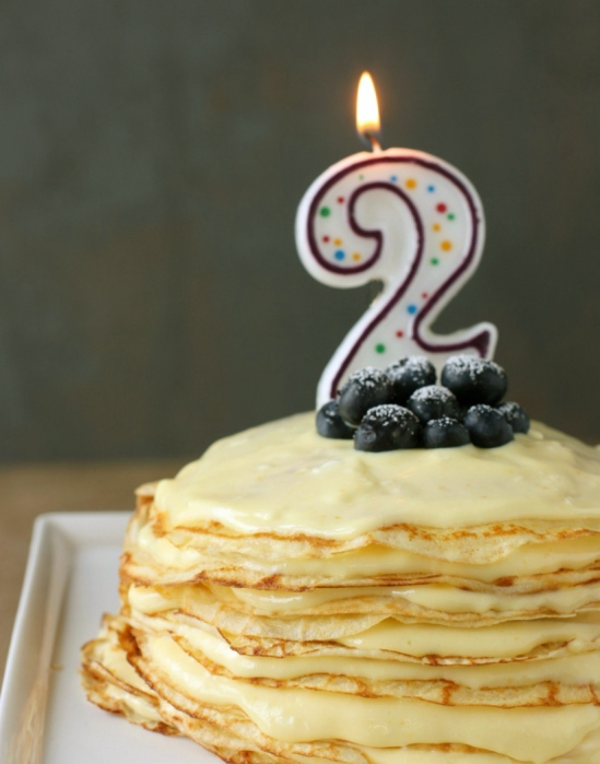 commemorating year two: meyer lemon curd crepe cake