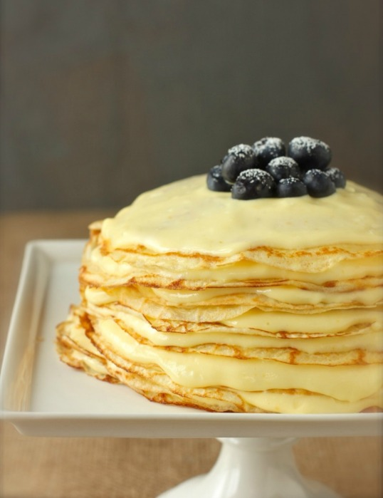 Meyer Lemon Crepe Cake