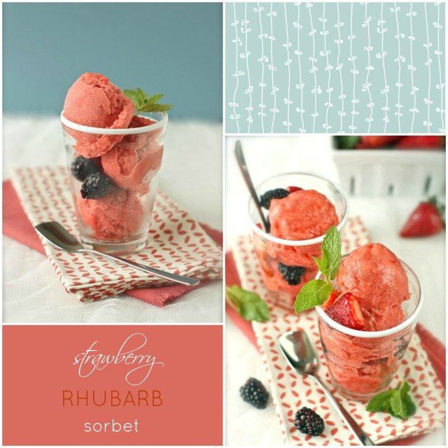 Strawberry-Rhubarb Sorbet