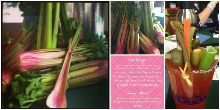 Red Celery and Celery Straws