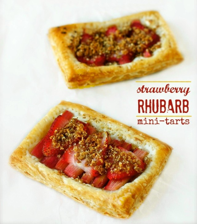 Strawberry Rhubarb Mini-Tarts | daisysworld.net