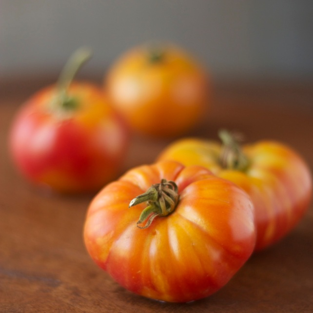 Striped heirloom tomatoes