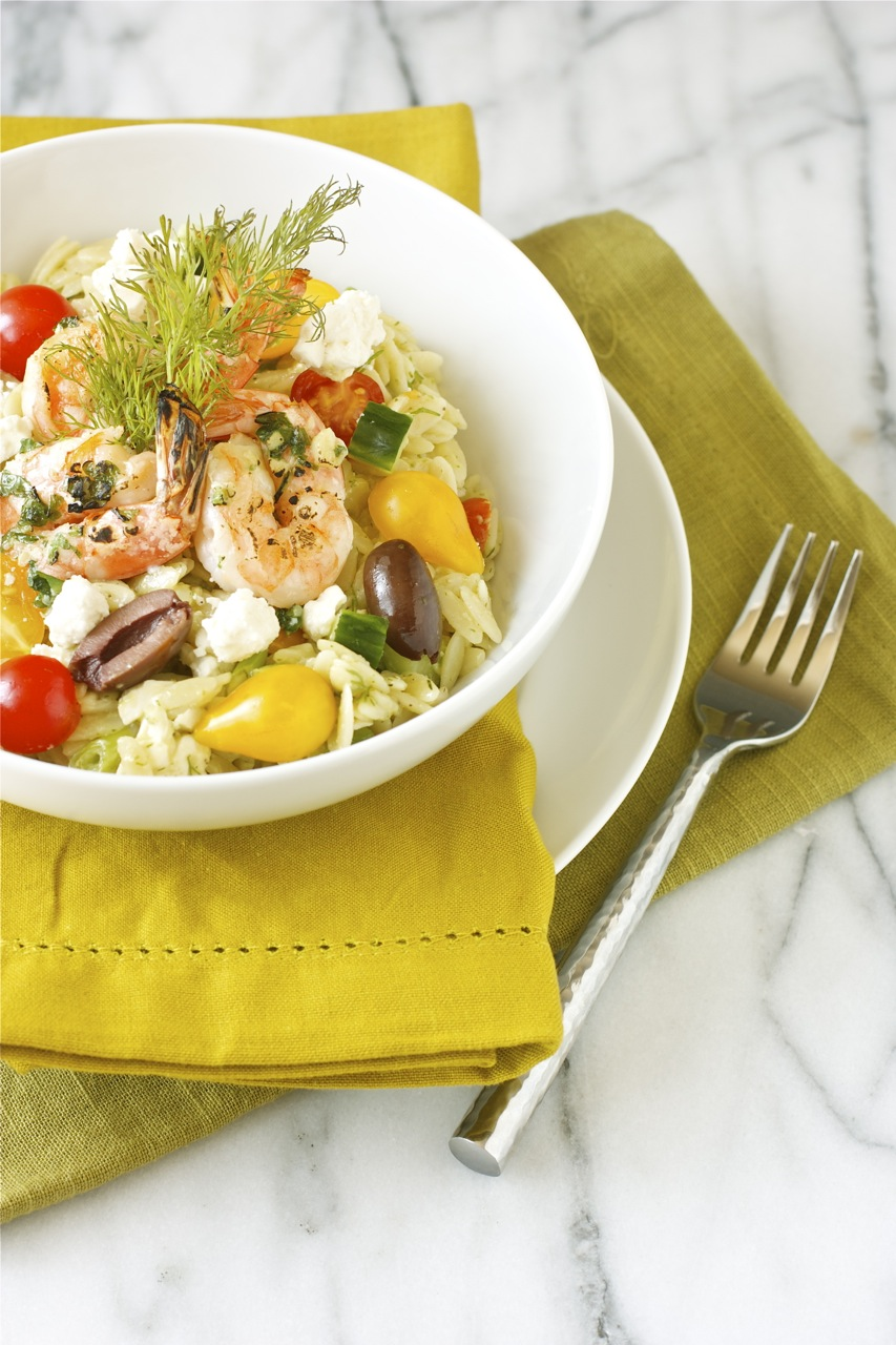 greek orzo salad with mustard-dill vinaigrette | daisy's world
