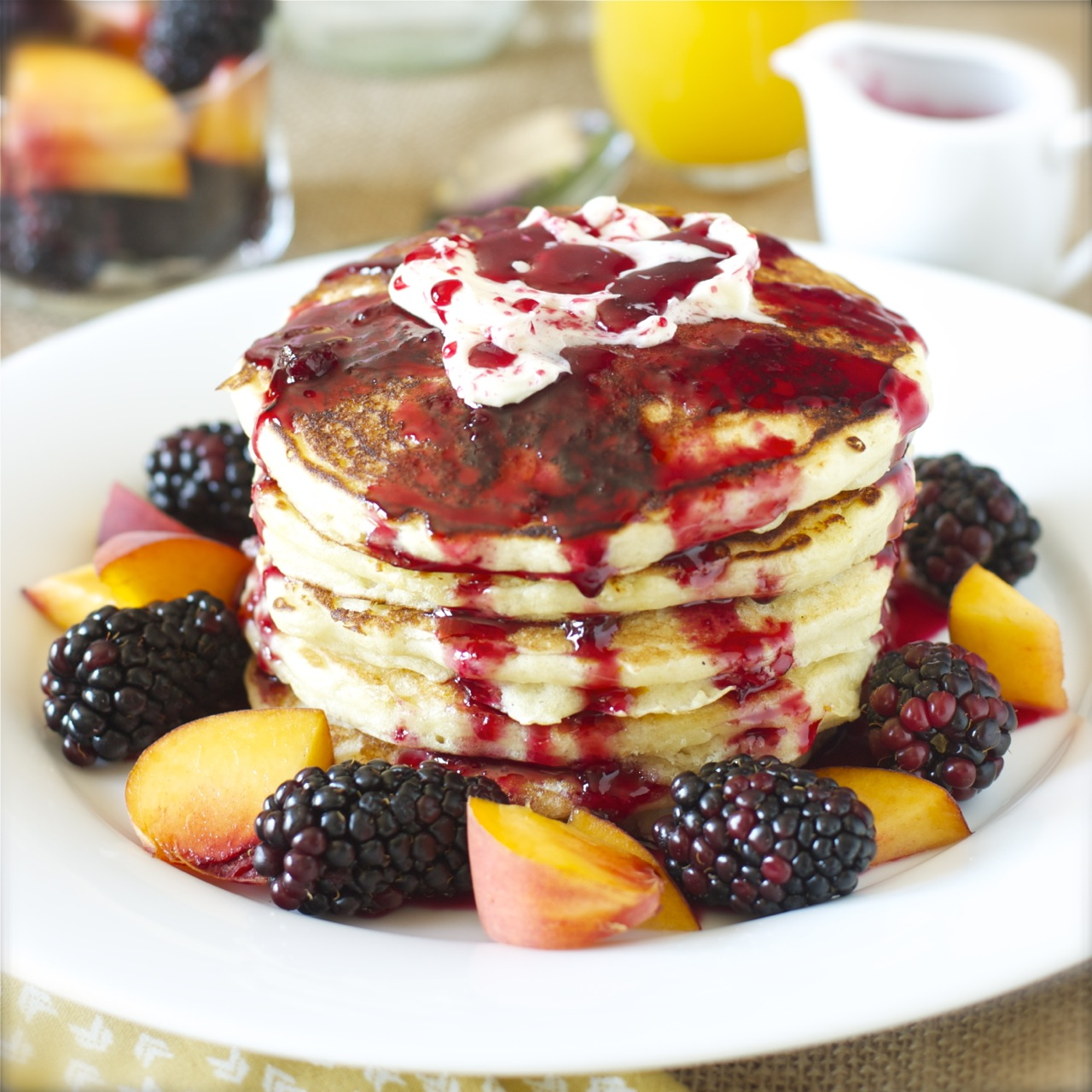 Orange Buttermilk Pancakes with Blackberry Maple Syrup | daisysworld ...