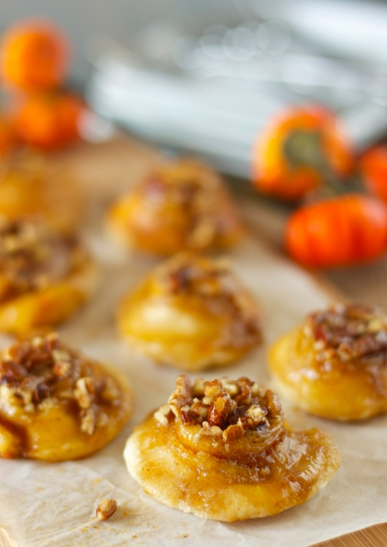Mini Pumpkin Butter and Orange Cream Cheese Sticky Buns