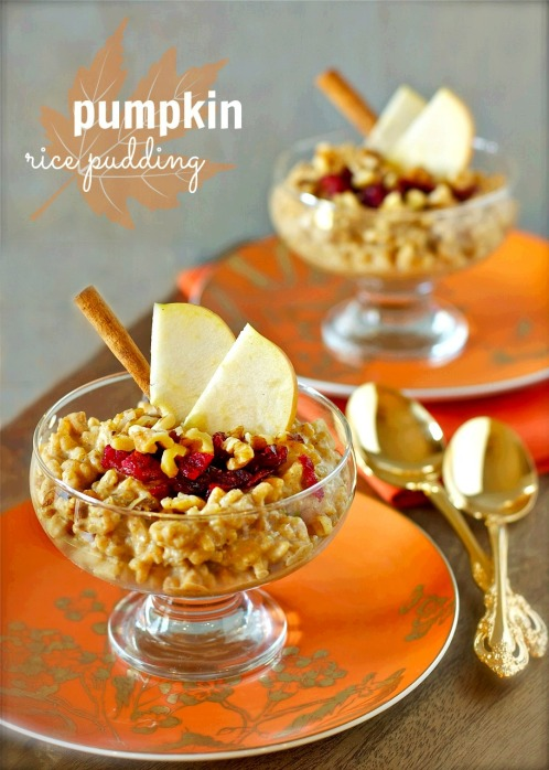 pumpkin rice pudding