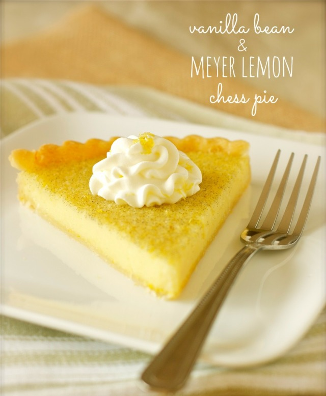 Vanilla Bean & Meyer Lemon Chess Pie | daisysworld.net