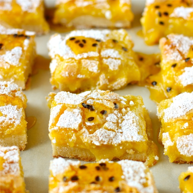 Glazed Passion Fruit Bars | daisysworld.net